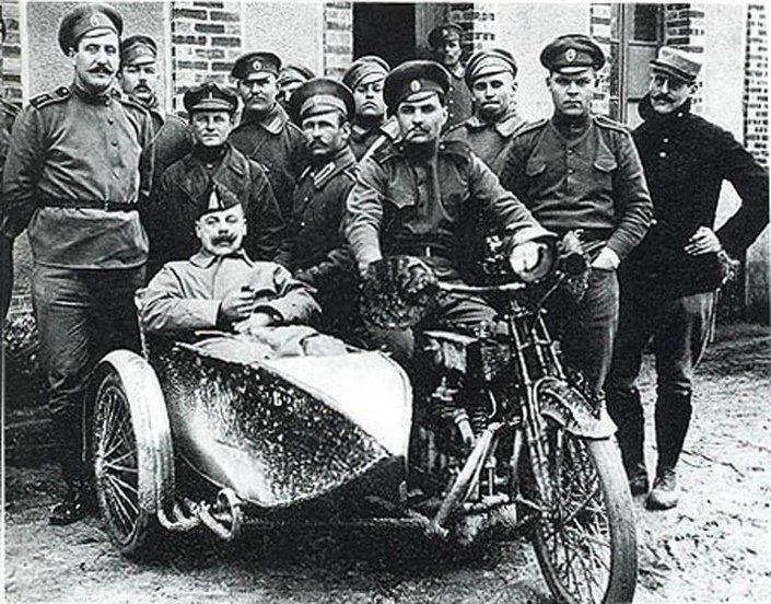 Мотоциклы в дореволюционной российской армии | Винтажные фото