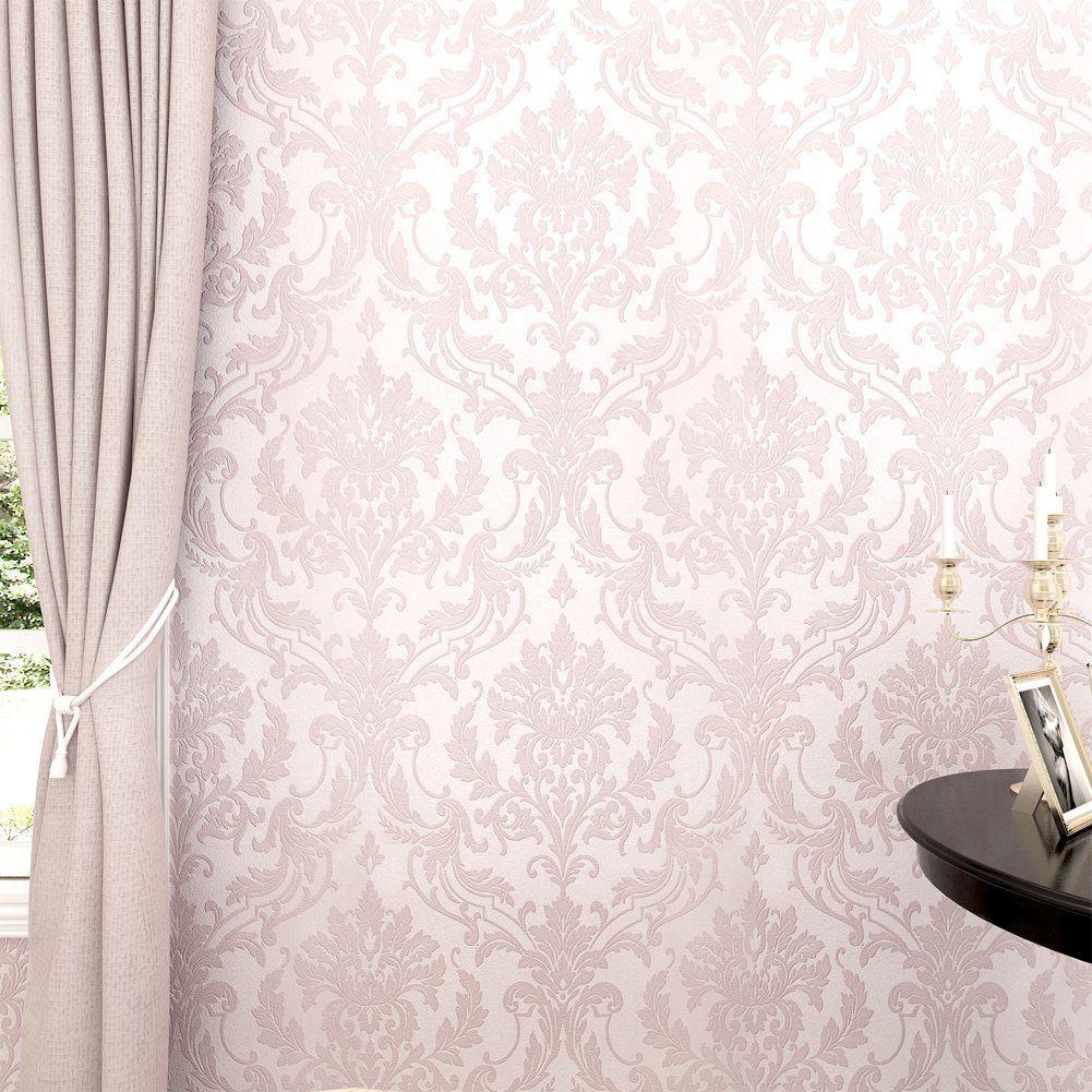 Hanmero papier peint intiss paillettes baroque vintage - Produit pour decoller papier peint ...