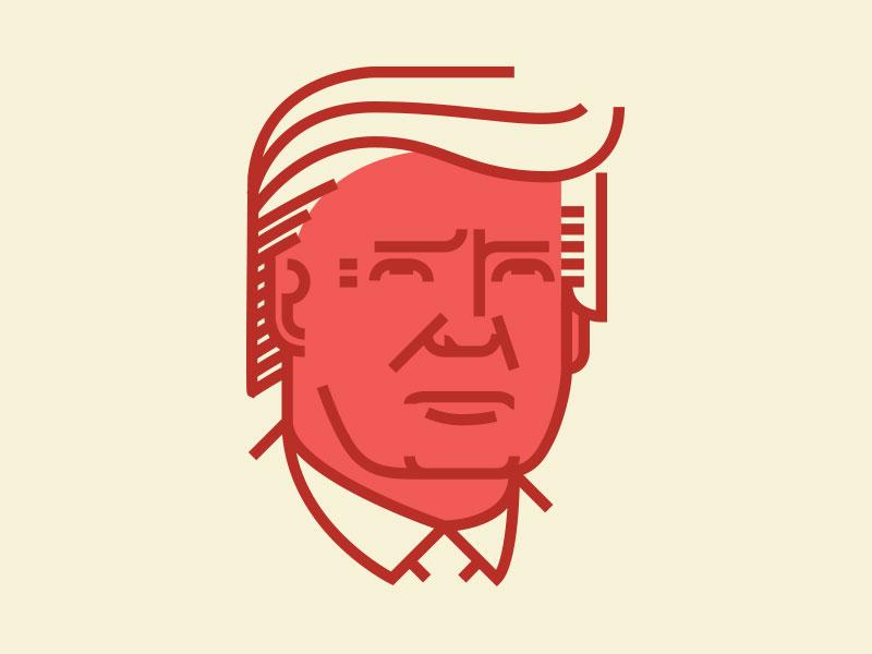 Trump Pictogram Design Illustration Character Design Screen Printing Designs