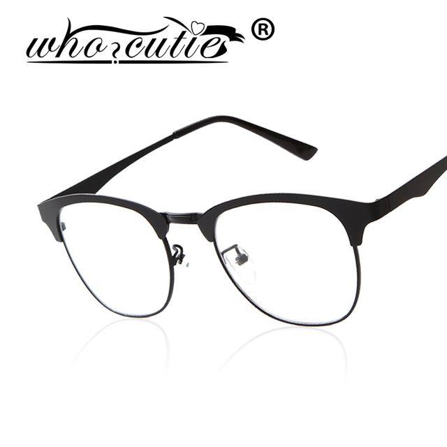 WHOCUITE Glasses Eyeglasses Frames Women Men Rimless