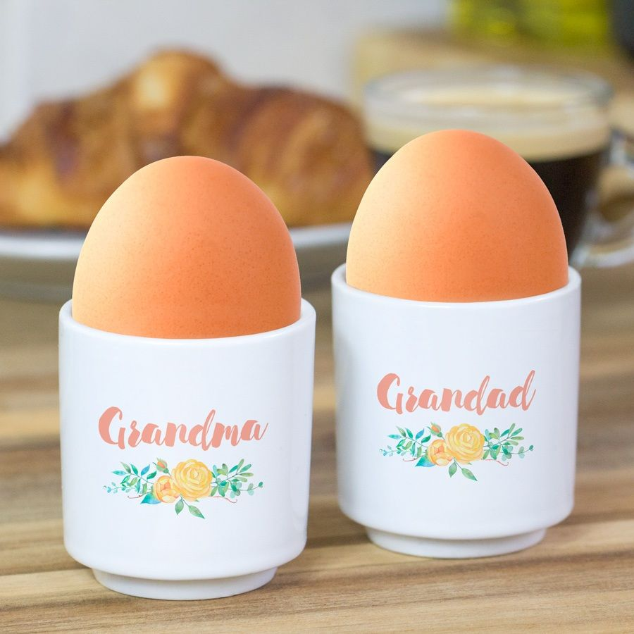Shabby Chic Personalised Egg Cup Set