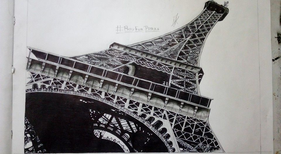 Eiffel tower drawing by me