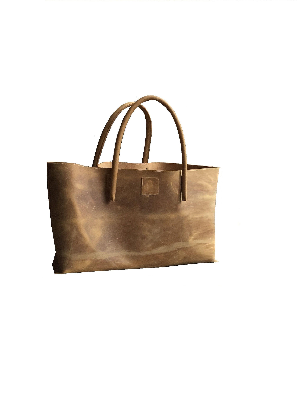 XXL comprador de cuero bolso de cuero extra grande Weekender bolso de compras de cuero semi-rígido usado hecho a mano