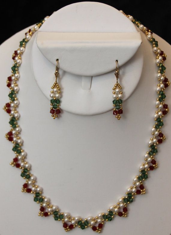 bfc6a9afa4a0 Collar de cristal de Swarovski & aretes | bisuteria | Collar de ...