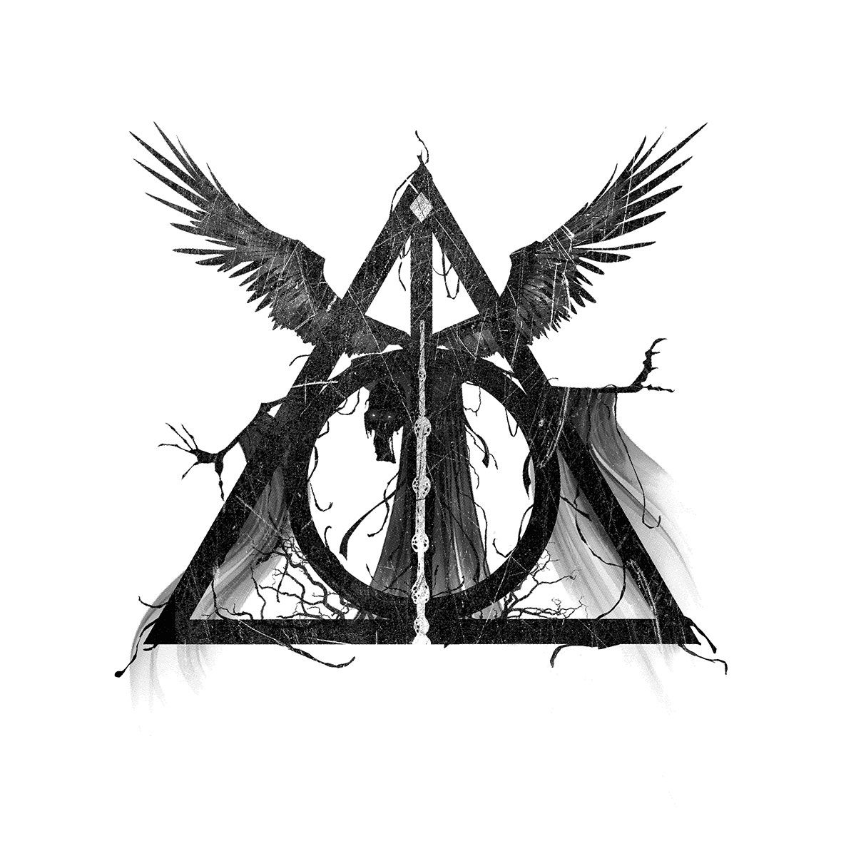 Three brothers tale the deathly hallows geeky harry potter harry potter art harry potter - Harry potter dessin ...