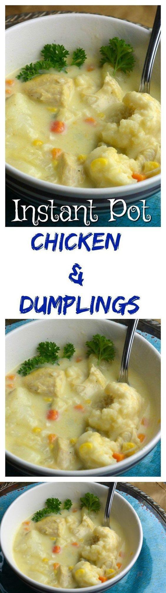 instant pot chicken and dumplings  recipe  instant pot