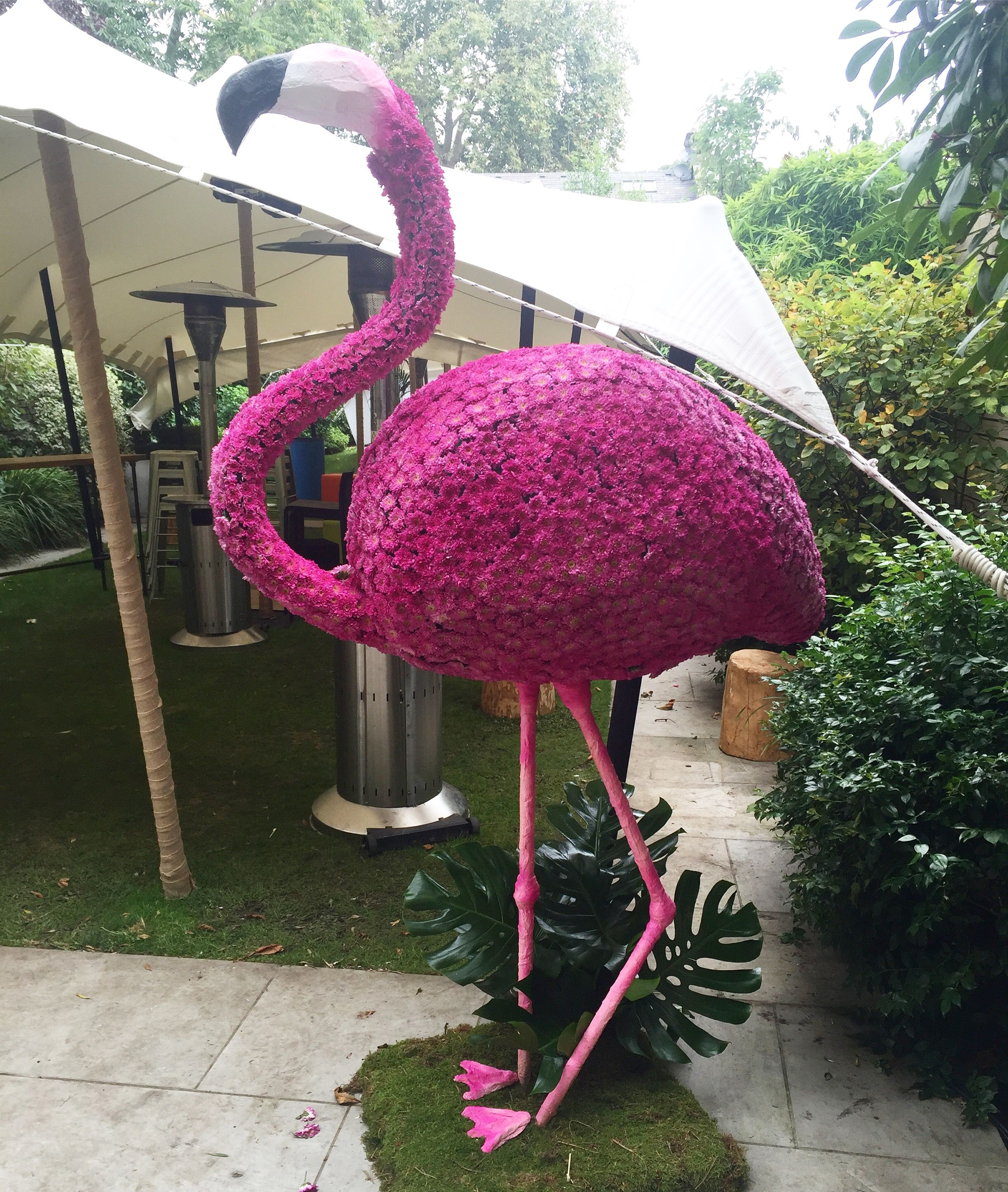Pink flamingo flower sculpture by Boutique Blooms Floral Design ...