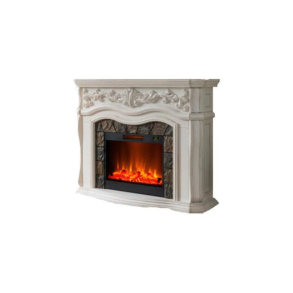 Classy FirePlace liked on Polyvore featuring home, home ...