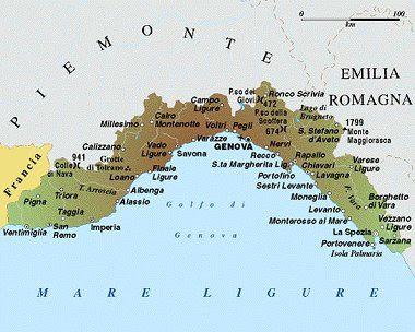 Liguria Map Political Regions Italy Map Geographic Region - Italy map genoa
