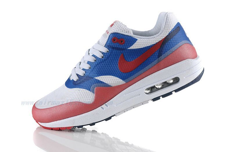 pretty nice 09220 6093f Air Max 1 Hypefuse Womens White Blue Red - Nike Sneakers Sale-083