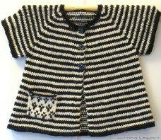 La petite veste à poche Gwen ha Du ! (comme le drapeau Breton)