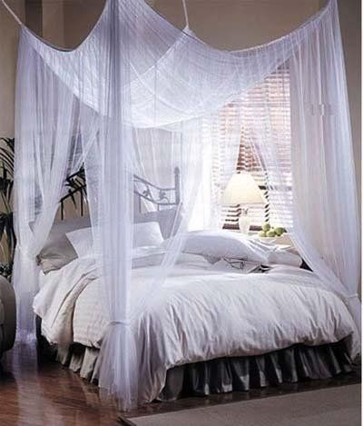 Romantic Beds sweeping curtains for a wonderful, relaxed romantic feeling. i