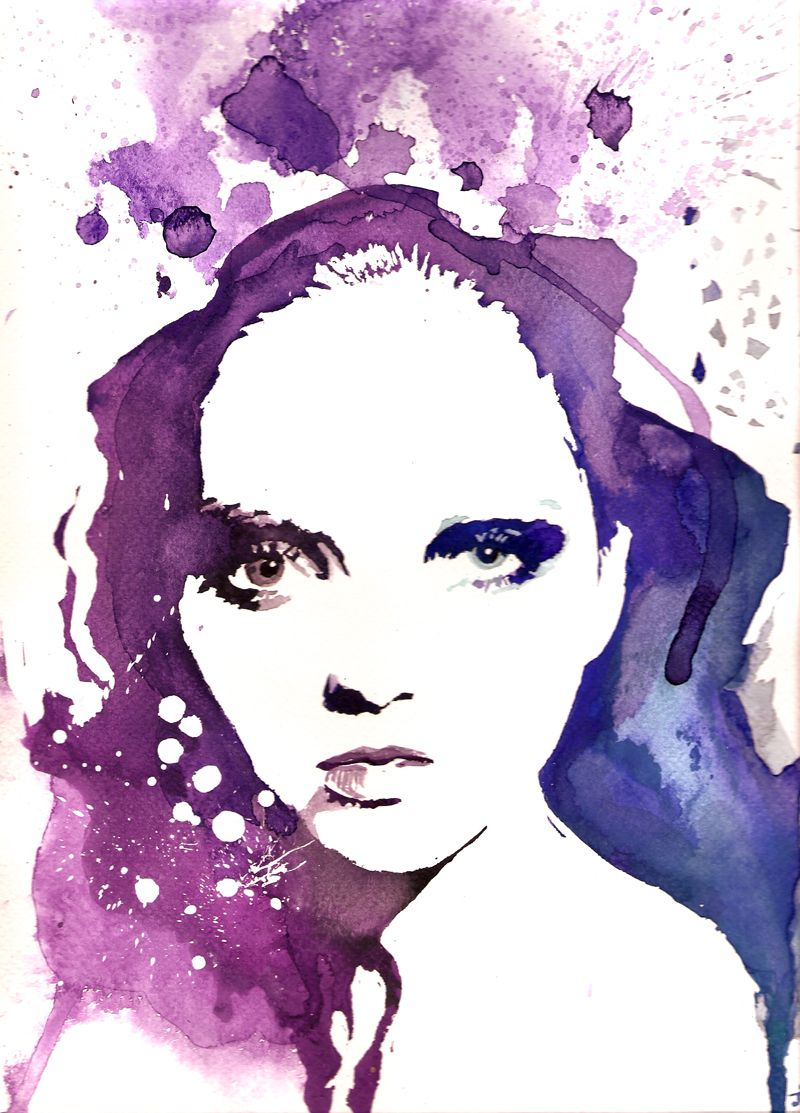 """untitled. 11""""x14"""" watercolor on paper by Josee Meunier."""