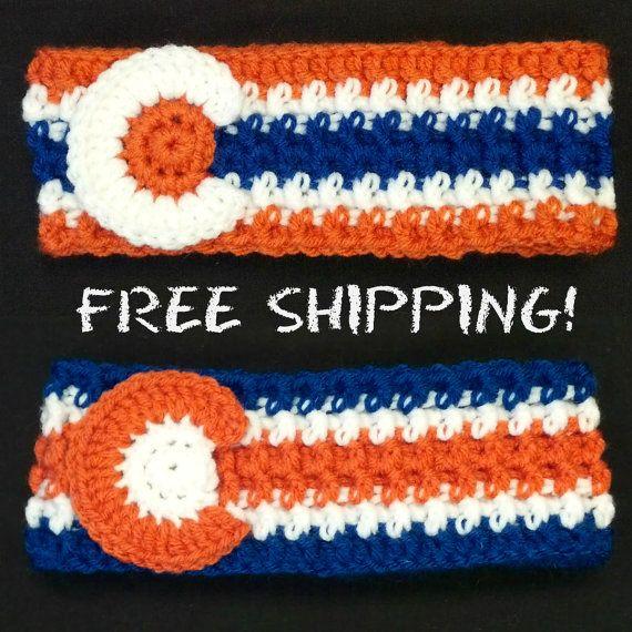 Broncos Colorado Flag Crochet Ear Warmer by CarolynLaymonArtist ...