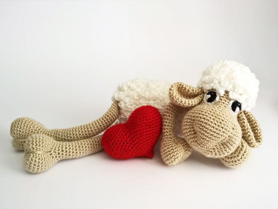 Amigurumi Animals, Easter crochet sheep, decor heart, Black Sheep Plush, Crochet Animals, Lamb Stuffed Animals, amigurumi dolls #babyhippo