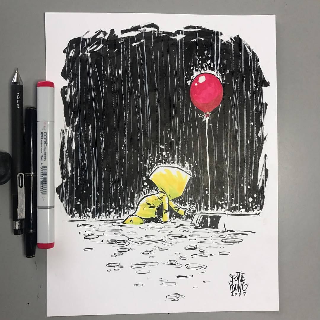 Easy Pennywise And Georgie Drawing