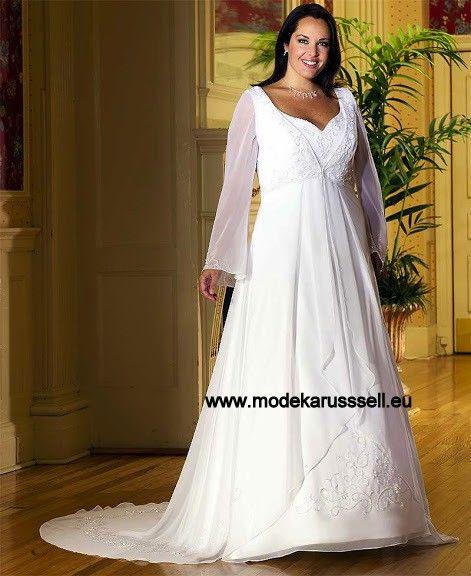 Brautkleid Catharina für große größen | Brautkleid lange ärmel