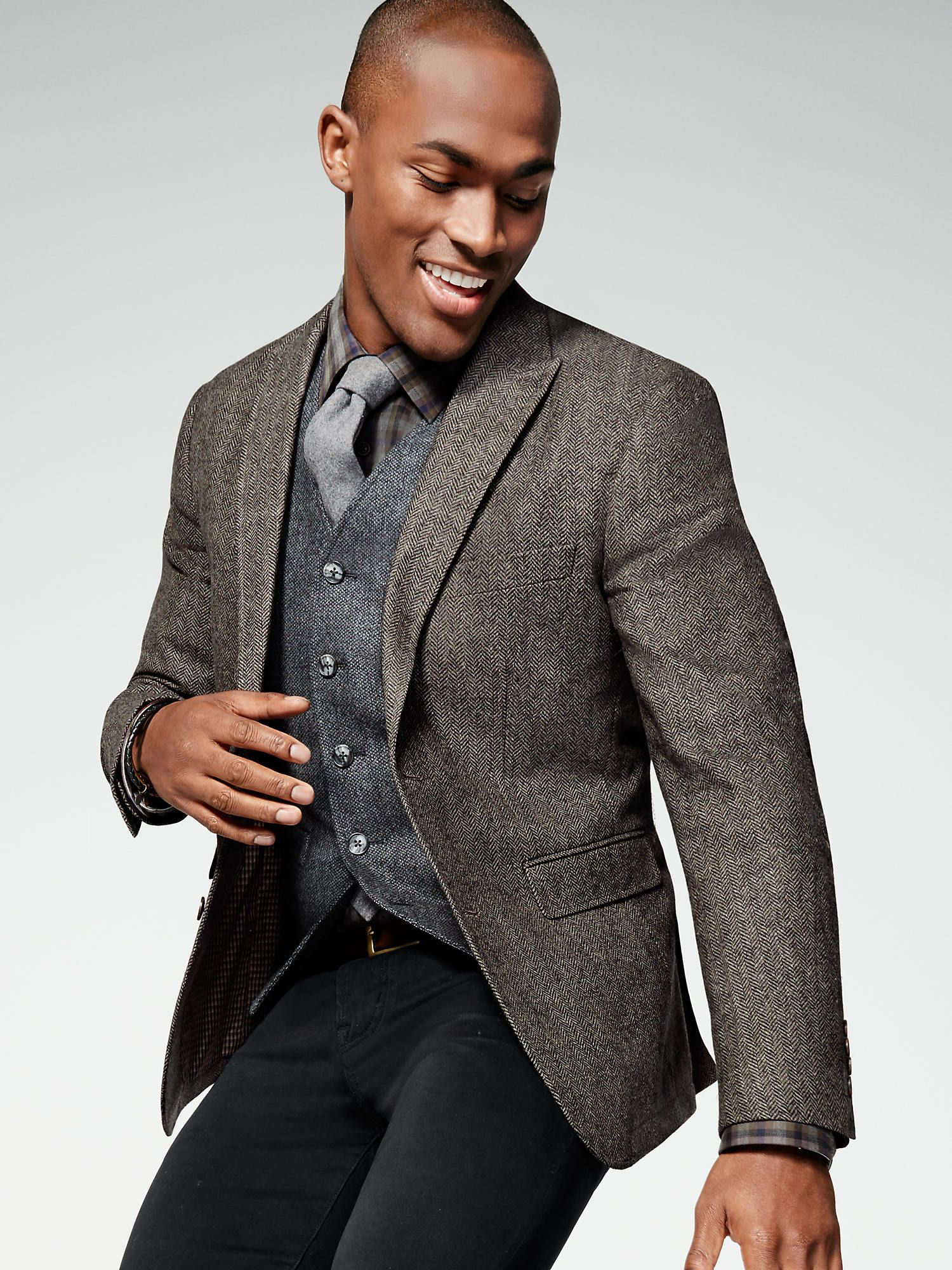 Make all the right moves in a textured sport coat layered over a ...