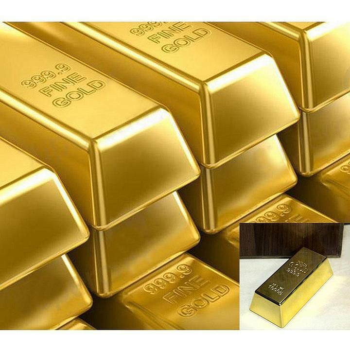 Creative 1kg 35oz Gold Bar Bullion Door Stop Paperweight Heavy Brick G Gold Money Gold Coins Gold Price