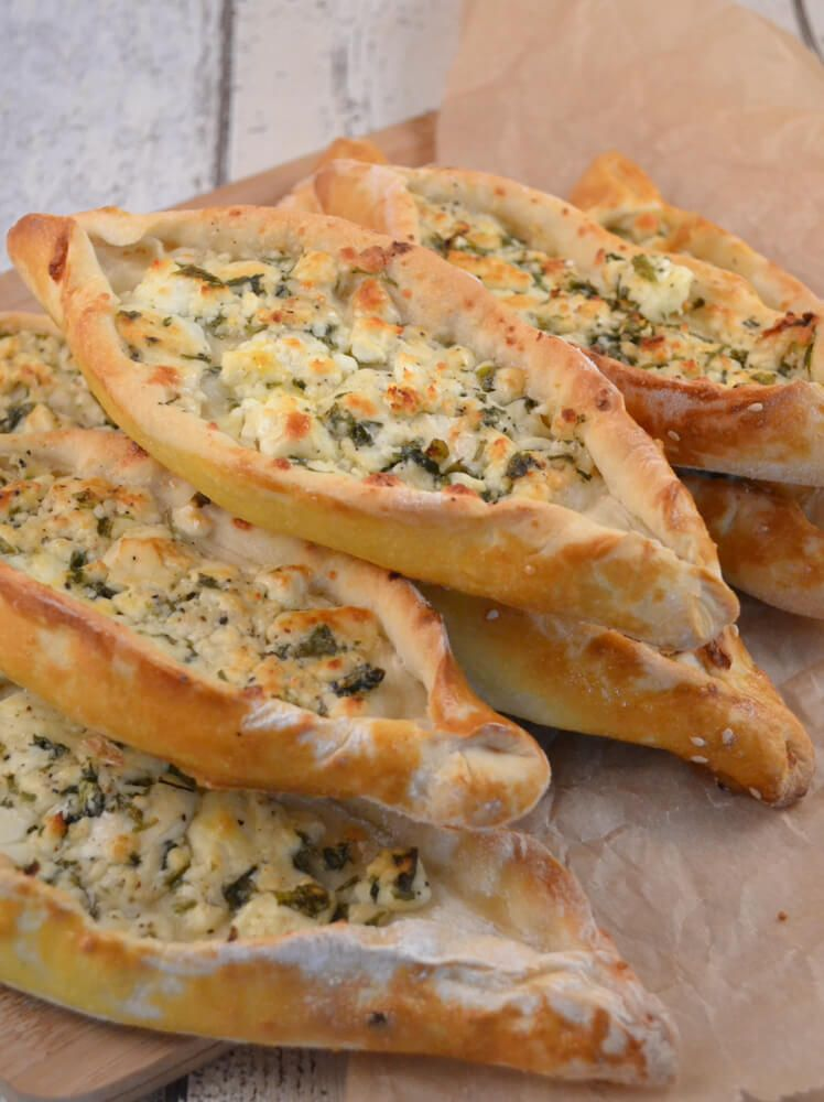 türkische Schafskäse Schiffchen Rezept #vegetarischerezepte