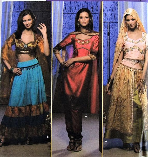 Belly Dancer Costume Sewing Pattern UNCUT Simplicity 4249 Sizes 14 ...