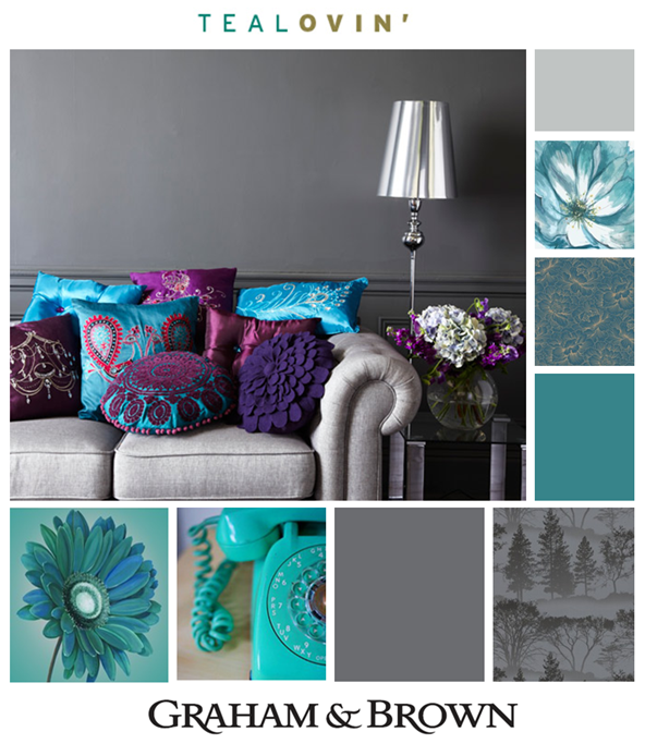 Turquesa Y Gris Purple Living Room Teal Living Rooms Gray Living Room Design #turquoise #and #purple #living #room #ideas