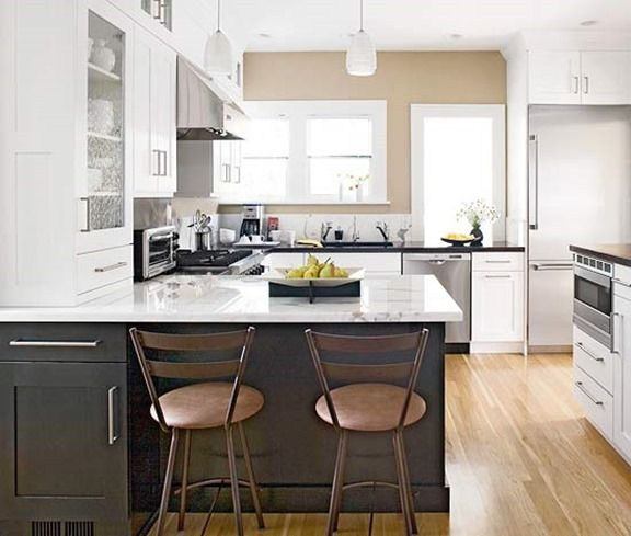 Bhg Two Color Cabinets Kitchen Design Furniture Pinterest Cool Bhg Kitchen Design Style