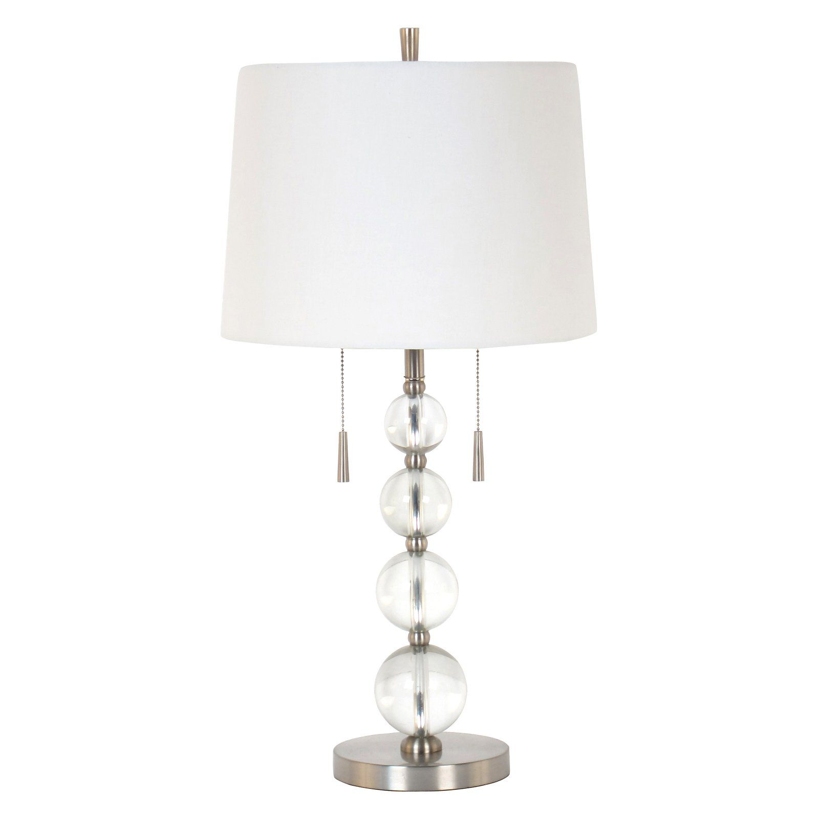 Urban Style Living Twin Pull Chain Acrylic Table Lamp in