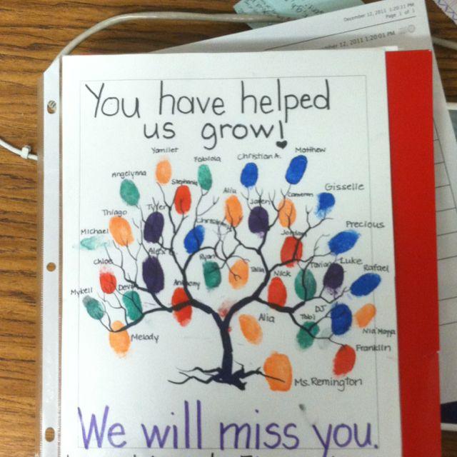 Goodbye Gift To Intern Student Teacher Gifts Farewell