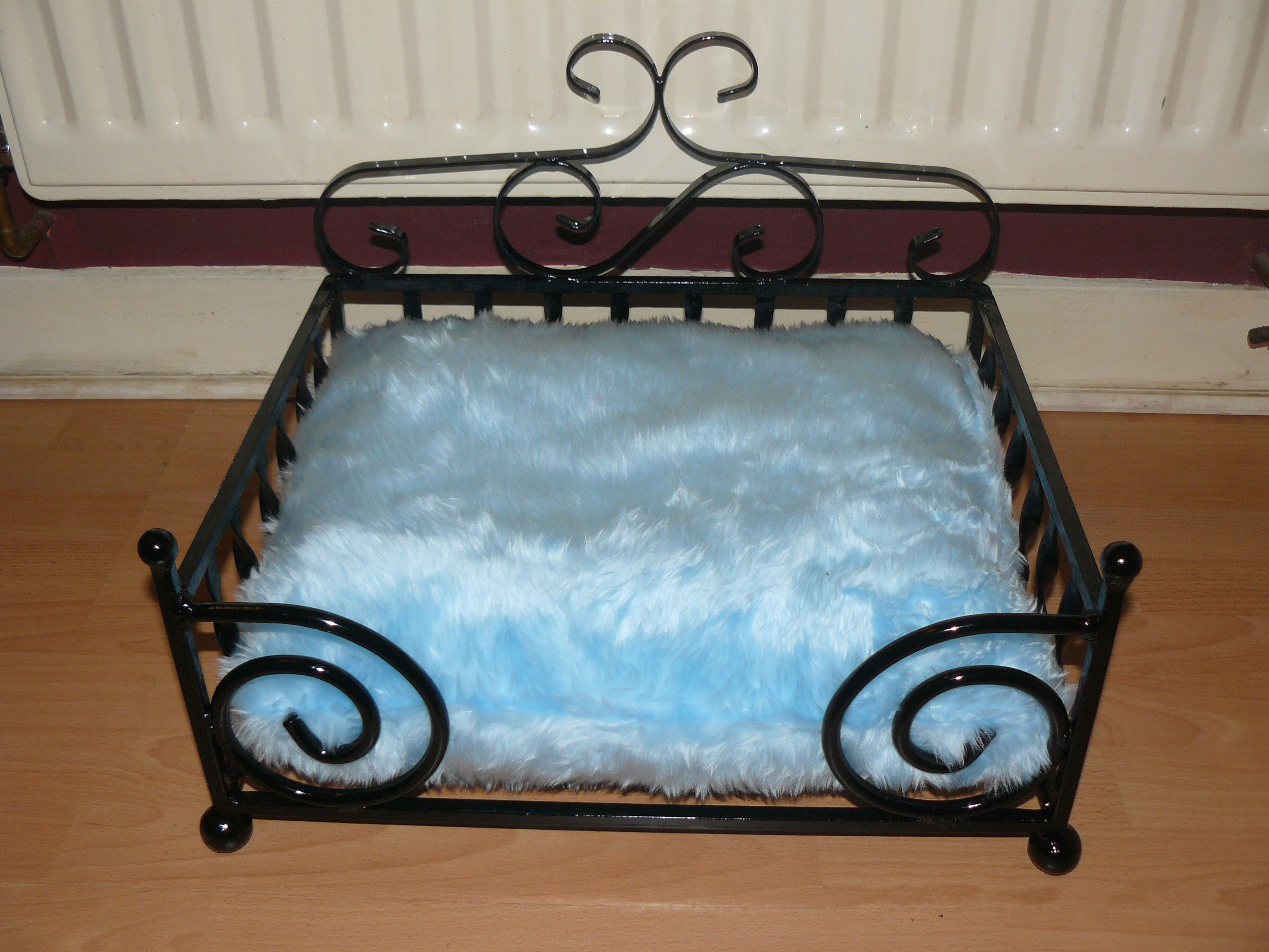 Dog Bed Wrought Iron Small Diva With Cushion Black Metal Pet Bed Dog Bed Wrought Iron Dog House Bed