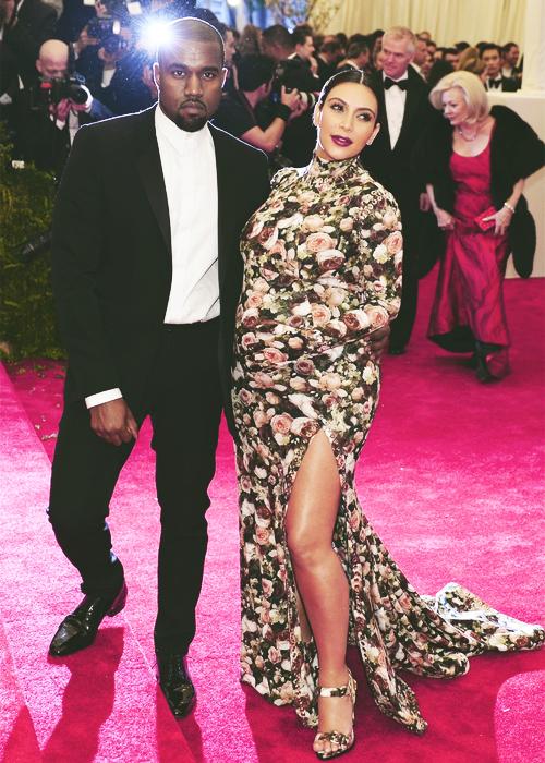 Kim Kardashian & Kanye West at the 2013 Met Gala held at the Metropolitan Museum of Art in New York City-May.6