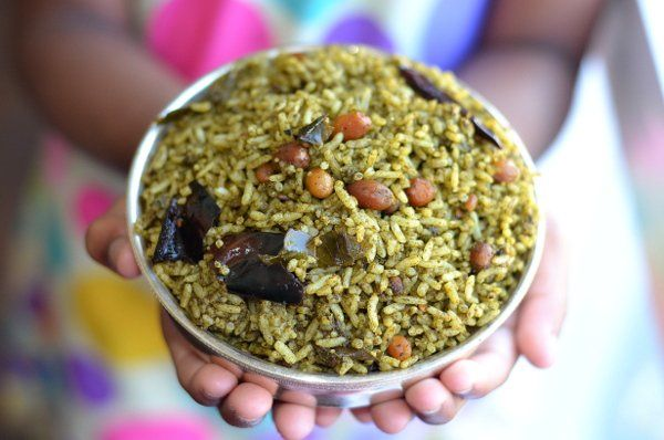 Spicy red roselle leaves rice recipe spicy rice and veg recipes andhra style gongura pulihora recipe spicy red roselle leaves rice forumfinder Images