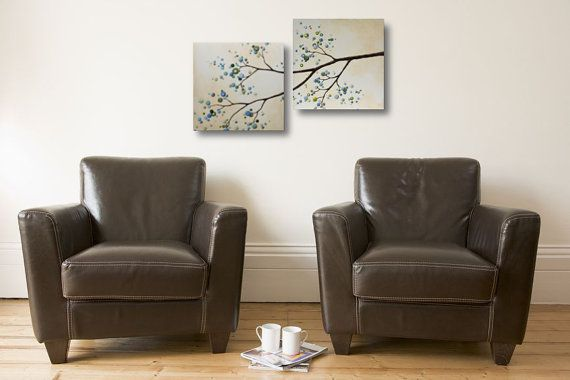 Modern Abstract Painting of Flowering by LittleSparrowGallery
