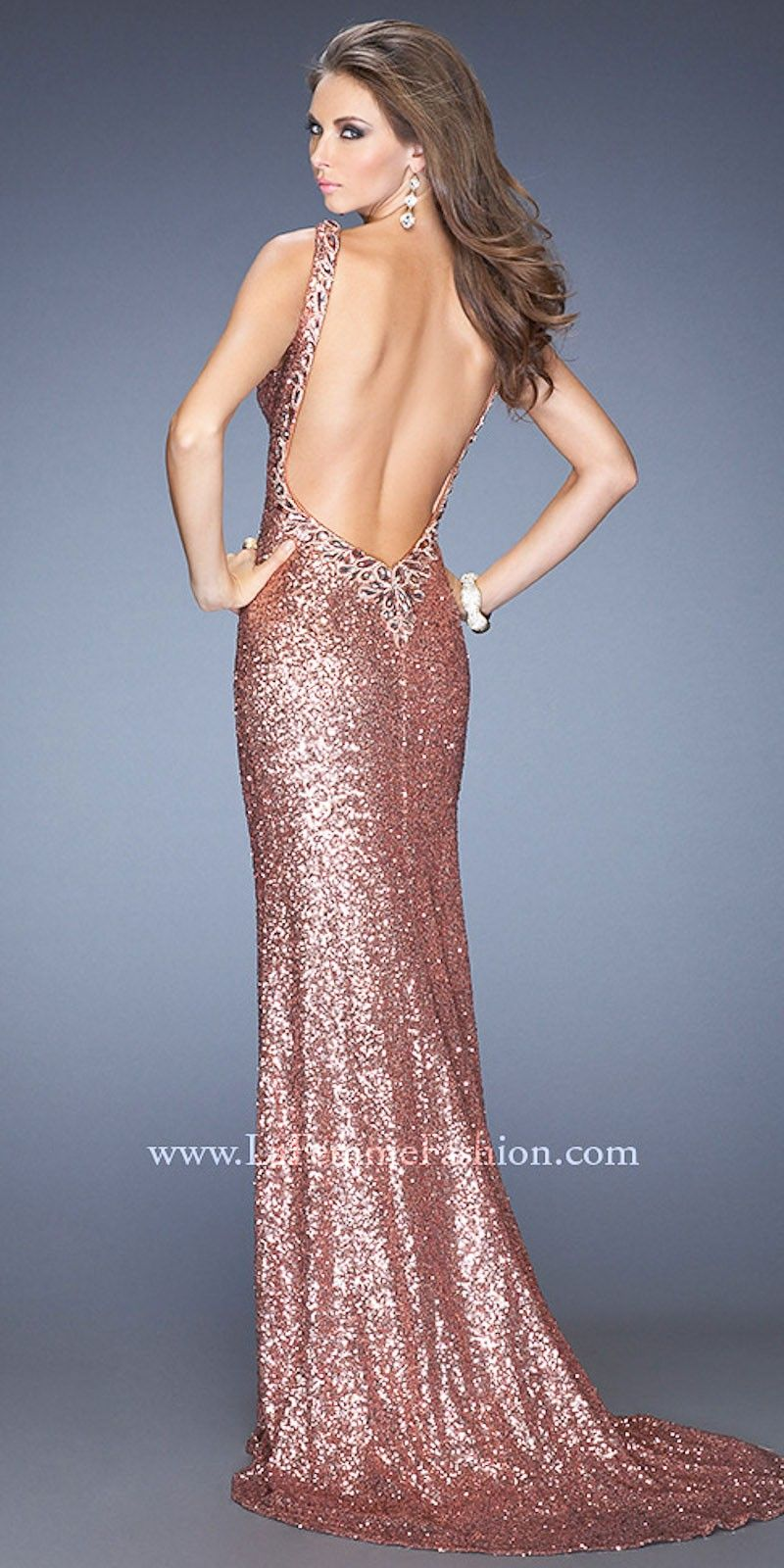 open back dresses | Boat Neck Sequin Bodice Open Back Prom Dresses ...