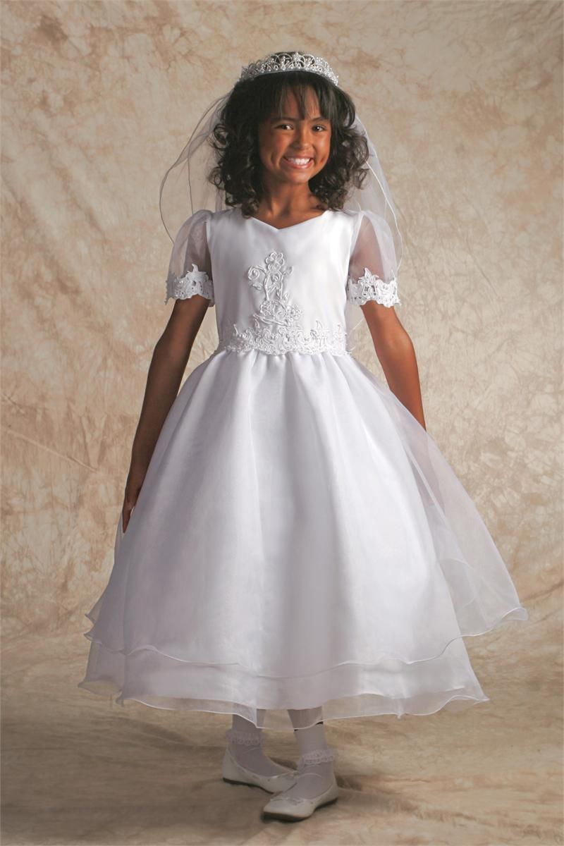 Catholic wedding dresses  Cutwork Beaded Lace First Communion Dress  Beauty and the Beast