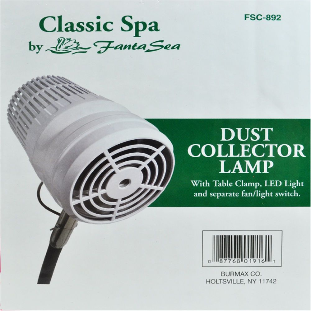 Fantasea FSC892 Nail Dust Collector with Table Clamp with LED Light ...