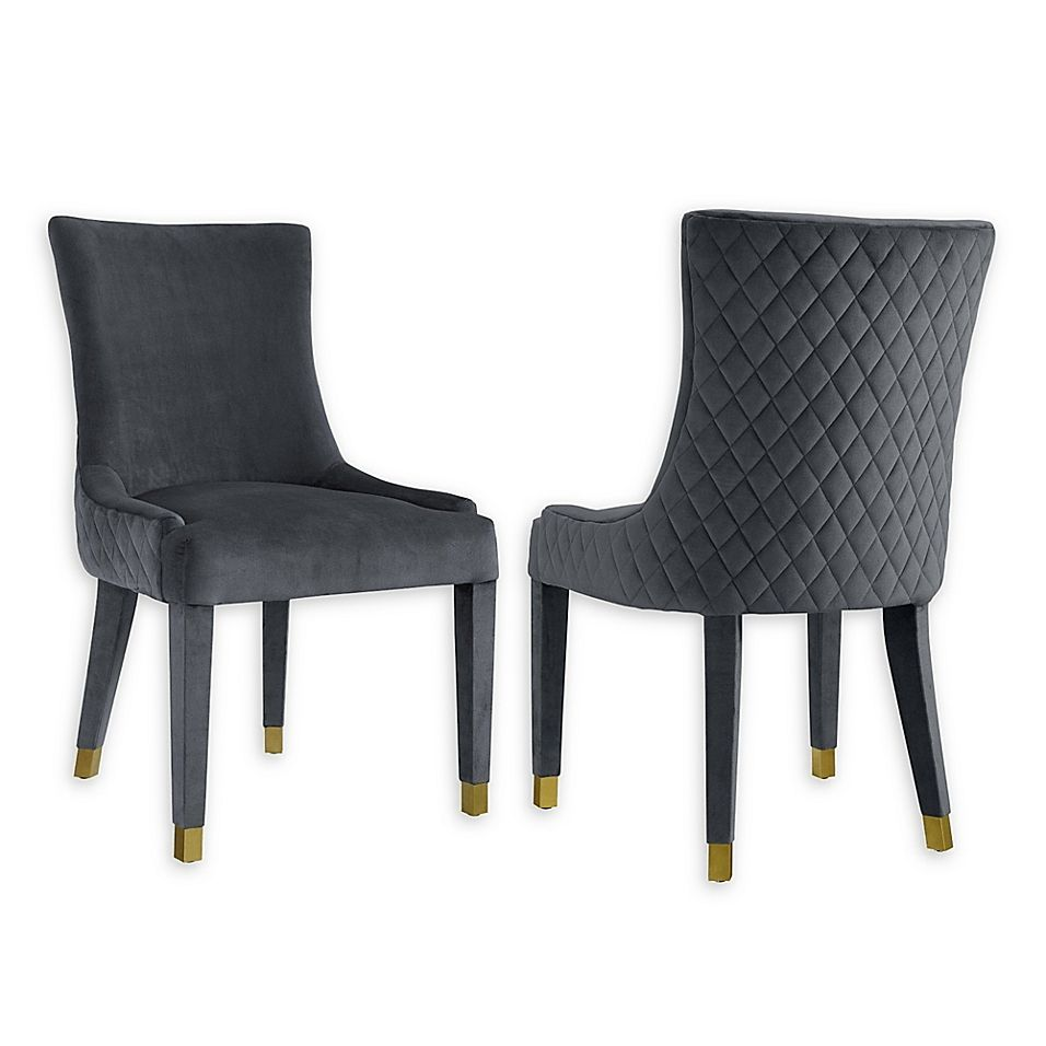 Modern Sensibility Faux Leather Upholstered Chair Dining Chairs