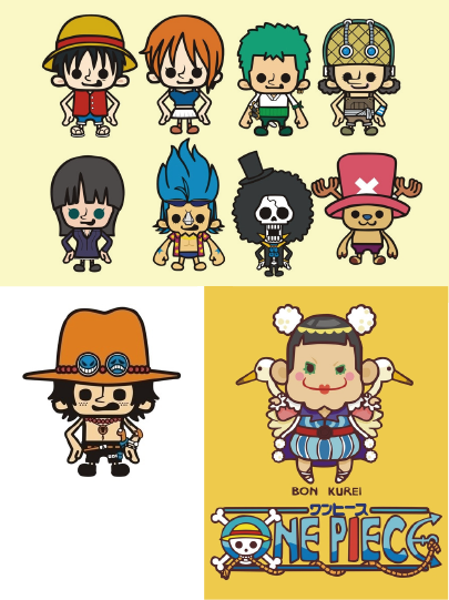 One Piece Flat Character Design イラスト