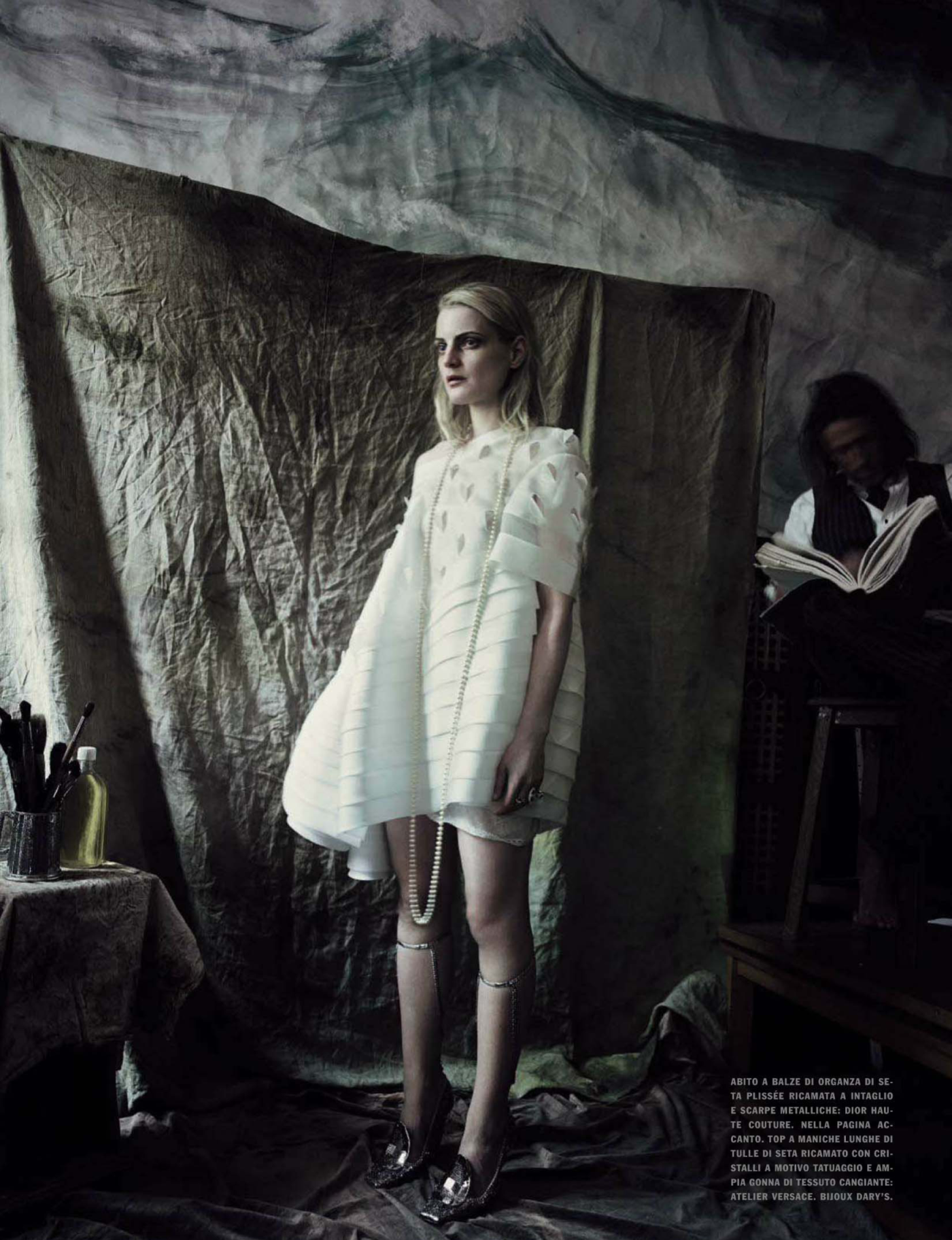 Guinevere Portrayed: Guinevere Van Seenus in Dior Haute Coutue Spring 2014 by Paolo Roversi for Vogue Italia March 2014