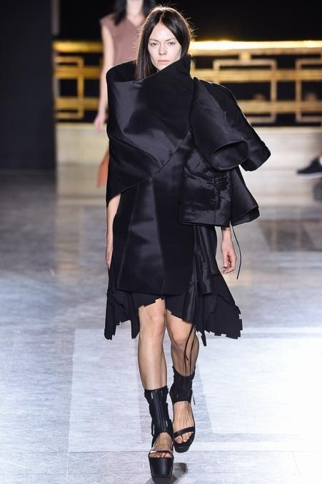 Take a look at Rick Owens's Spring 2015 collection on Vogue.com.