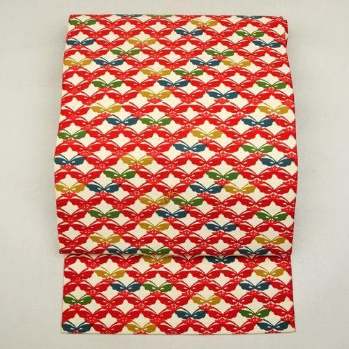 Cotton nagoya obi / クリーム色地の八寸名古屋帯 http://www.rakuten.co.jp/aiyama #Kimono #Japan #aiyamamotoya