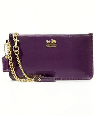 a24a4bc810 Patent purple reigns! COACH  handbag  wristlet  macys BUY NOW ...