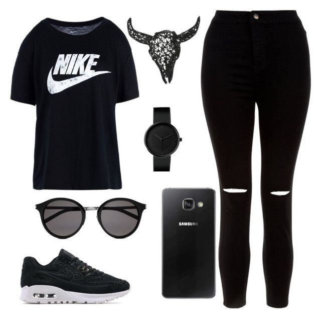 """""""Untitled #401"""" by karlamichell on Polyvore featuring NIKE, New Look, Samsung and Yves Saint Laurent"""