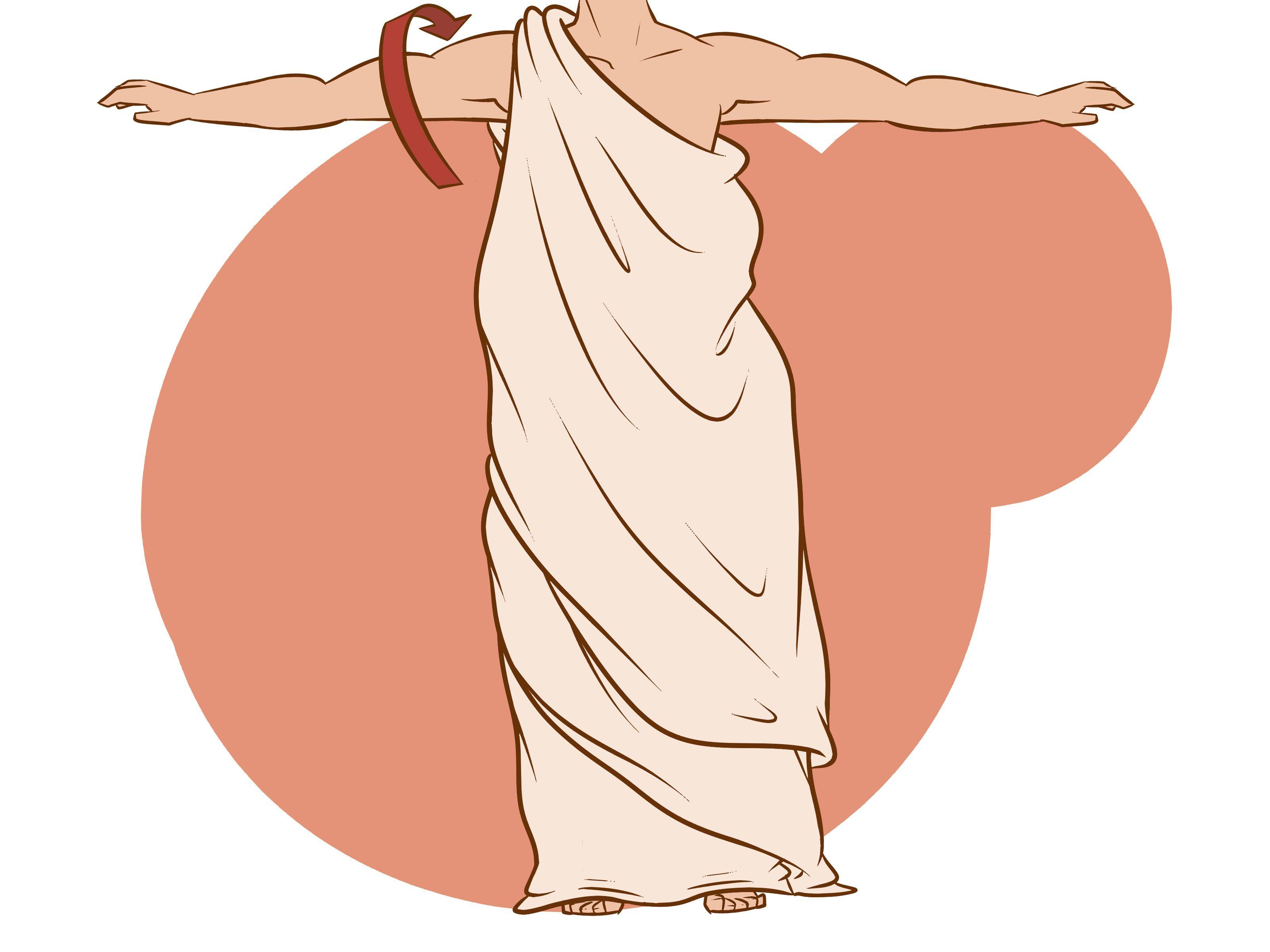 Wrap a Toga | Antikes griechenland, Smoking und Wickeln