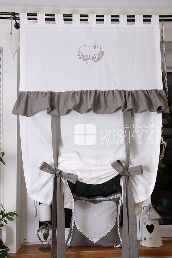 firany firanki rolety rzymskie firany pinterest shabby window and valance. Black Bedroom Furniture Sets. Home Design Ideas