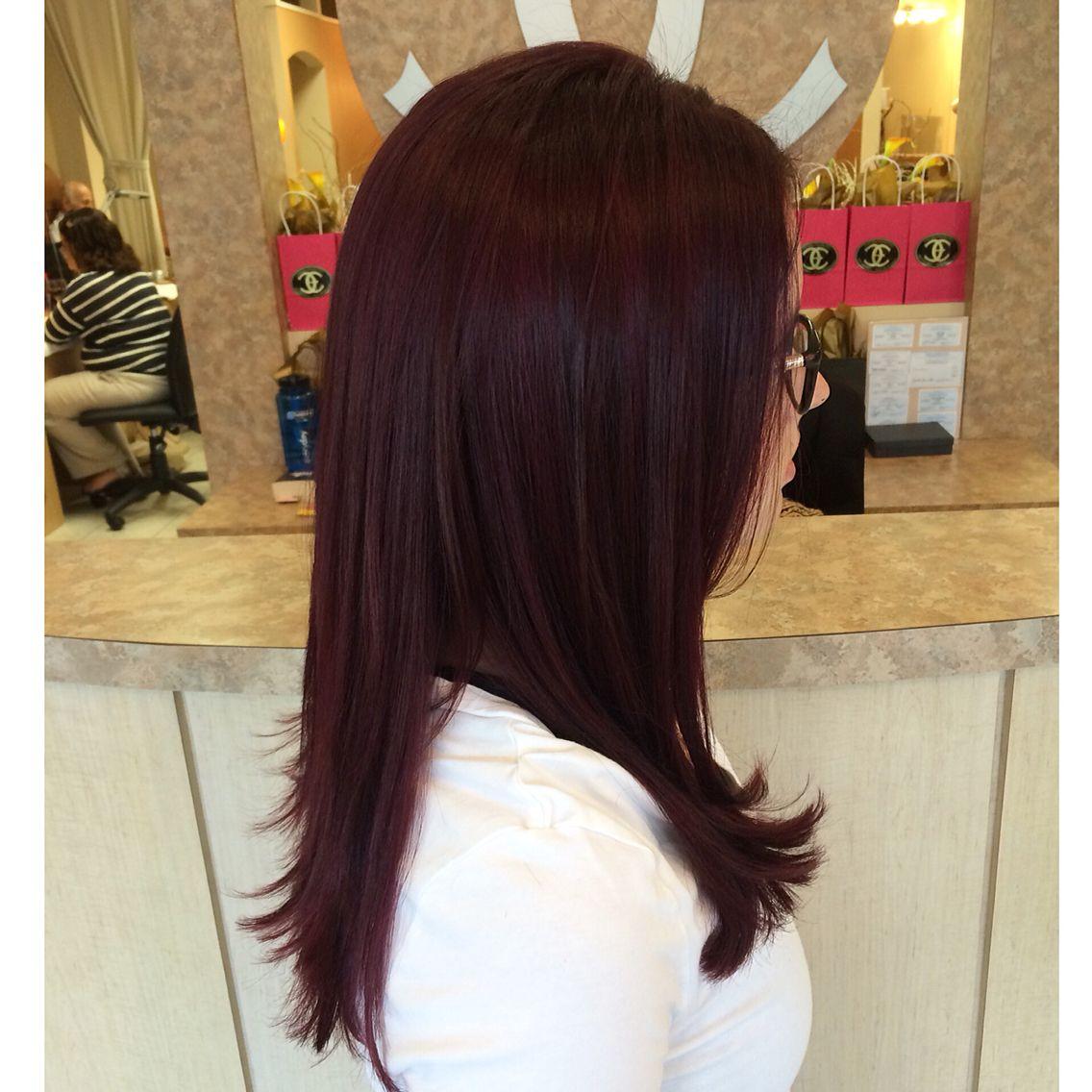 Merlot hair color - Violet Red Hair Color Auburn Merlot Hair