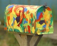 hand painted mailbox designs. Abstract Mailboxes | More Examples Of Hand Painted Decorative Mailbox Designs E