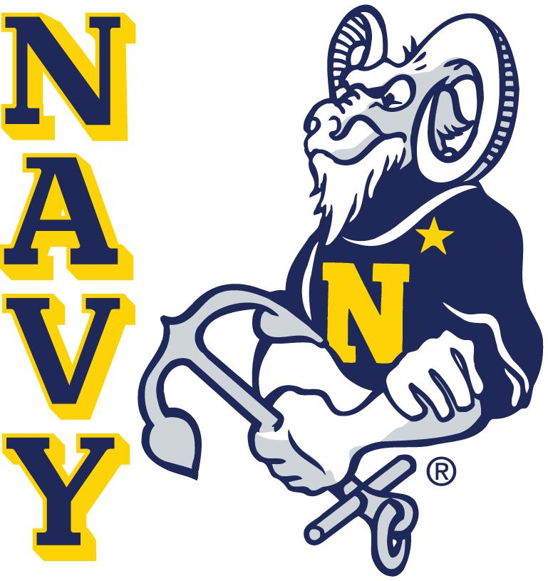 Navy Midshipmen Secondary Logo (1972) Goat with an