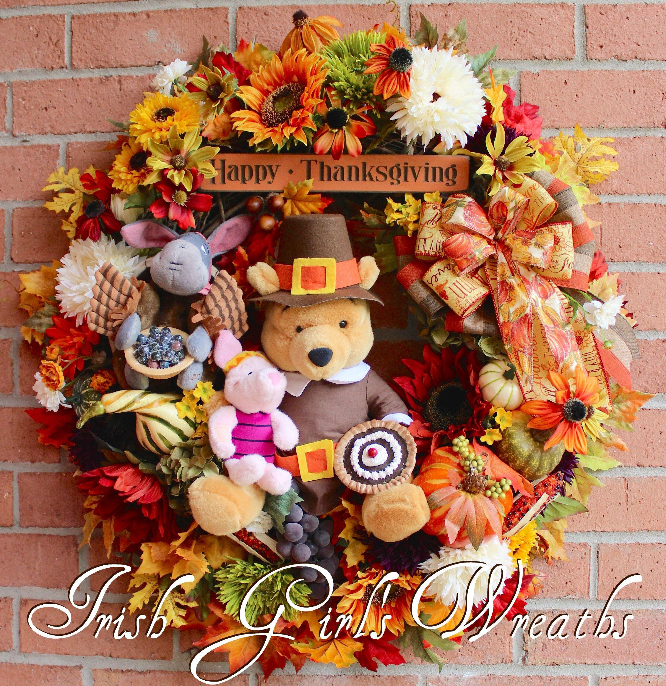 home decor wreath-door hanger sunflower-fall theme-fall decorations-harvest-harvest wreath Fall wreath harvest decorations
