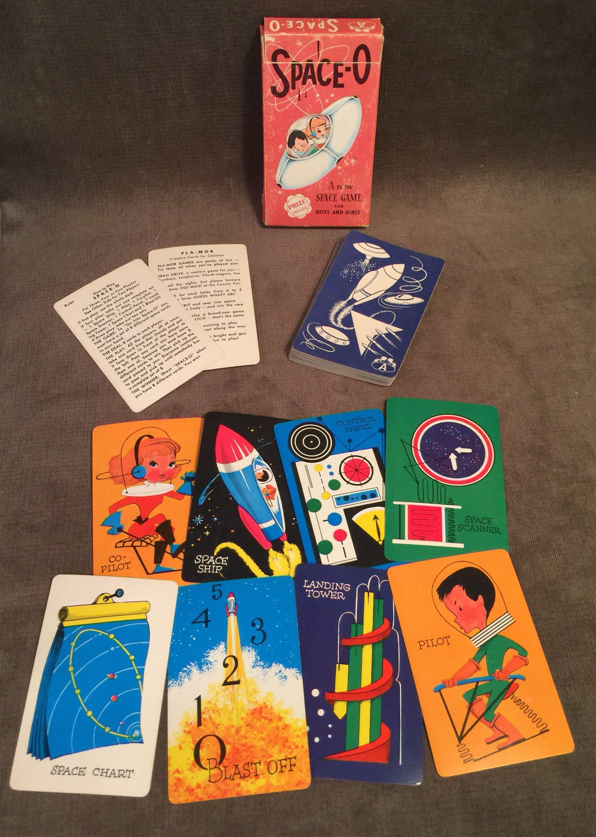 Space O Kids Card Game By Pla Mor Arrco Playing Card Co Etsy Card Games For Kids Card Games Cards